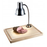 Maple Carving Station with Lamp