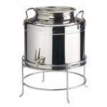Stainless Steel Beverage Dispenser with Stand