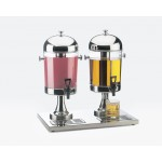 Dual Stainless Steel Acrylic Beverage Dispensers