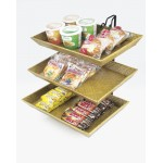 2 and 3 Tier Bamboo Tray Wire Merchandiser