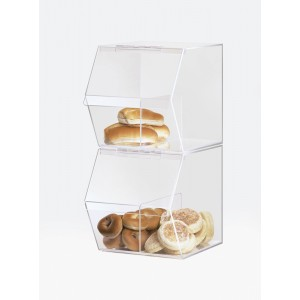 Classic Stackable Acrylic Food Bin with Divider