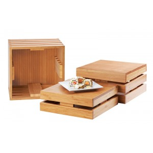 Bamboo Square Crate Risers