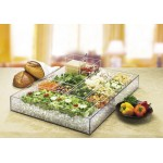 Clear Salad Bar Ice Housing