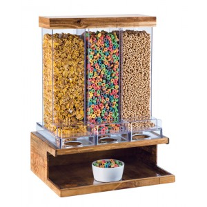 Madera 3 Section Cereal Dispenser
