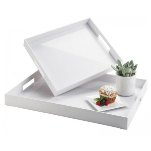 White ABS Room Service Trays