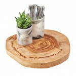 Natural Wood Slice Tray