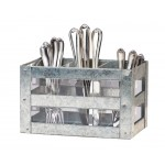 Galvanized Flatware Holder
