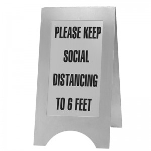Stainless Steel Social Distancing Sign