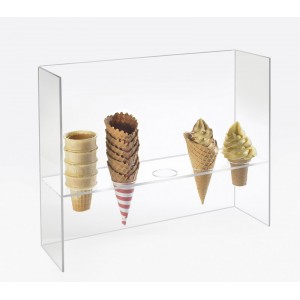 Acrylic Cone Holder with Guard