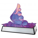 Large Mirror Ice Carving Pedestal with LED Feature