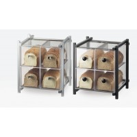 Bamboo 4 Drawer Bread Case Cal Mil Plastic Products Inc