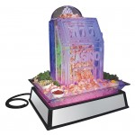 Small Mirror Ice Carving Pedestal with LED Feature